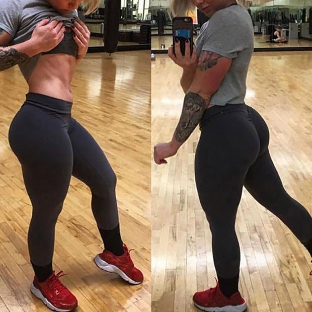 2018 Fitness Yoga Pants Women Brief Solid Sports Leggings Female Flex Breathable Elastic High Waist Workout Running Trousers