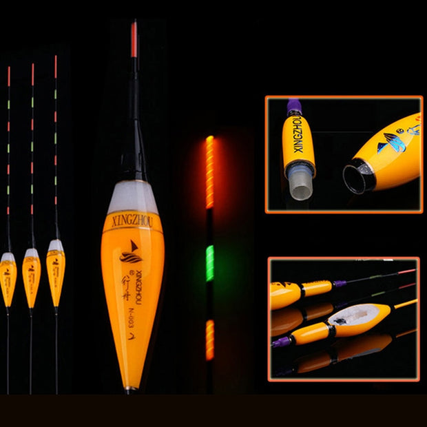 2018 Hot Sale New Popular Fishing Floats Electric Luminous Floats 1-3# Light Battery Flotador Pesca Bobber Fishing Tools Tackles