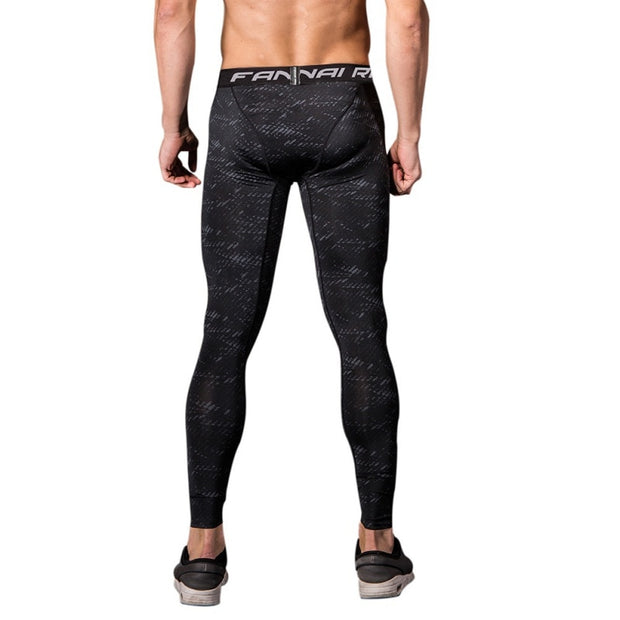 2018 Men Compression Tight Long Pants Black Trousers Men Joggers Running Trousers Slim Fit Mallas Fitness Pants Wholesale