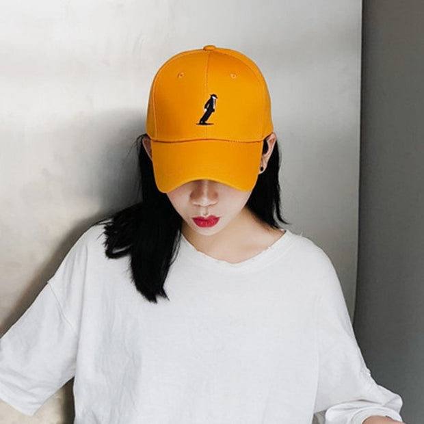 2018 New Character Embroidery Fashion Baseball Cap Fashion Adjustable Cotton Men Cap Adult Female Hat Hip Hop Hat Sunscreen