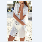 2018 New Sexy Womens Beach Wear Mesh Lace Bikini Swimming Cover Up Swimwear Mesh Beachwear