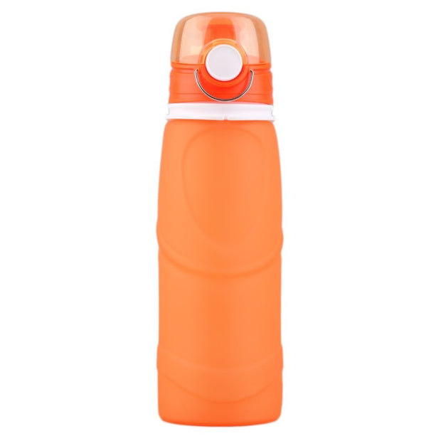 2018 New Silicone Folding Sports 750ML Water Bottle Kettle Fashionable Portable Sports Equippment Outdoor Camping