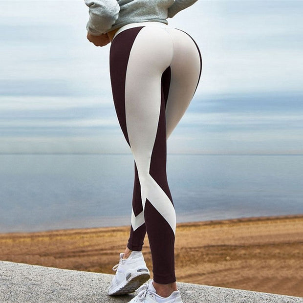 2018 New Super Stretchy Gym Tights Energy Seamless Tummy Control Yoga Pants High Waist Sport Leggings Purple Running Pants Women