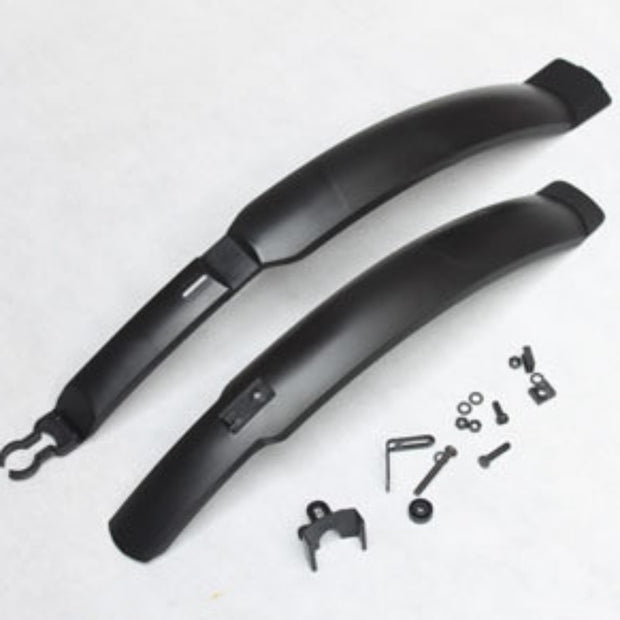 2018 Road Bicycle Front Rear Defender Mountain Bike Plastic MTB Mudguard Quick Release Plastic Bike Fenders
