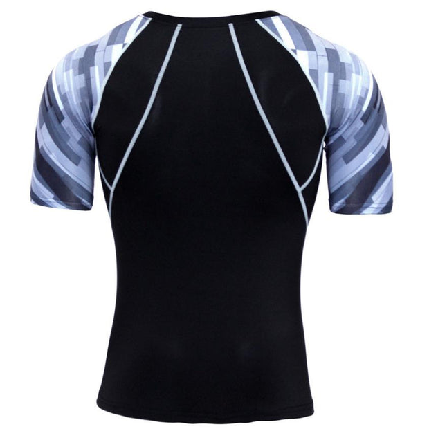 2018 Summer Sports T-shirts Man Quick Dry Workout Leggings Fitness Sports Gym Running Shirt Tops 0720