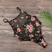 2018 Women Sexy Mesh Embroidered Bikini Bodysuits Swimsuit Cover Up Jumpsuit Swimwear Maillot De Bain Biquines A23 Ap25