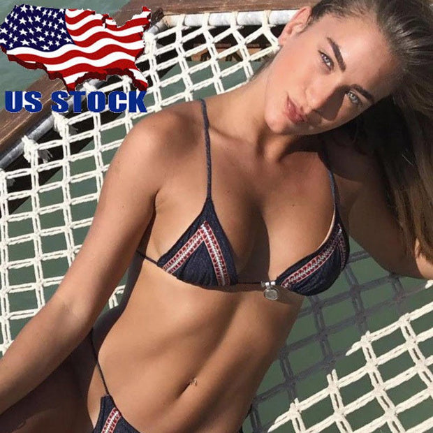 2018 Women Sexy Bikini Set Push Up Padded Swimwear Swimsuit Bathing Suit Beachwear