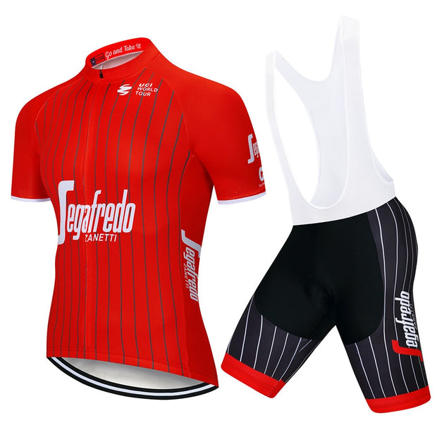 2018 Uci Cycling Clothing Bike Jersey Quick Dry Mens Bicycle Clothing Summer Trekking Team Cycling Jersey Gel Bike Shorts Set