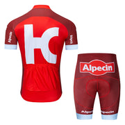 2019 Alpecin Pro Men Short Sleeve Cycling Jersey Bike Clothing Bib Shorts Shirt Set MTB Bicycle Clothes Ropa Ciclismo 9D Gel P