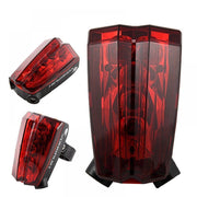 2019 Bicycle Back Laser Tail Light MTB Mountain Bike Rear Light Cycling Safety Signals Flash Taillight Lamp Outdoor Accessories