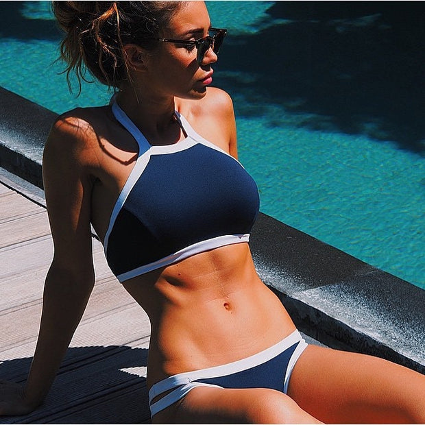 2019 Bikini New Arrival Swimwear Women Bikini Set Cross Bandage Beach Bathing Suit Top Low Waist Swimsuit Push Up Brazilian