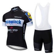 2019 BlacK Quickstep Cycling Clothing Bike Jersey Quick Dry Bicycle Clothes Mens Summer Team Cycling Jerseys 12D Bike Shorts Set