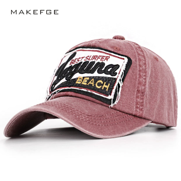 2019 High Quality Vintage Baseball Cap Embroidery Hip Hop Hat Spring Man Woman Casual Washed Cotton Trucker Dad Hats Surfer Bone