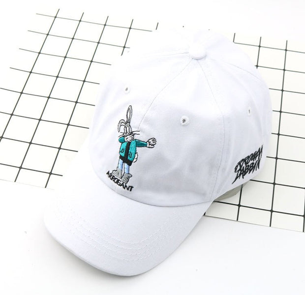 2019 New Fashion Embroidery Rabbit Cap Snapback Hats For Men Women Cotton Hip Hop Fitted Baseball Caps Women Hat Cap Men
