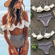 2019 Sexy Bikini Swimwear Women Swimsuit Fashion Women Bikini Push-Up Pad Swimwear Bathing Swimsuit White Beachwear Set