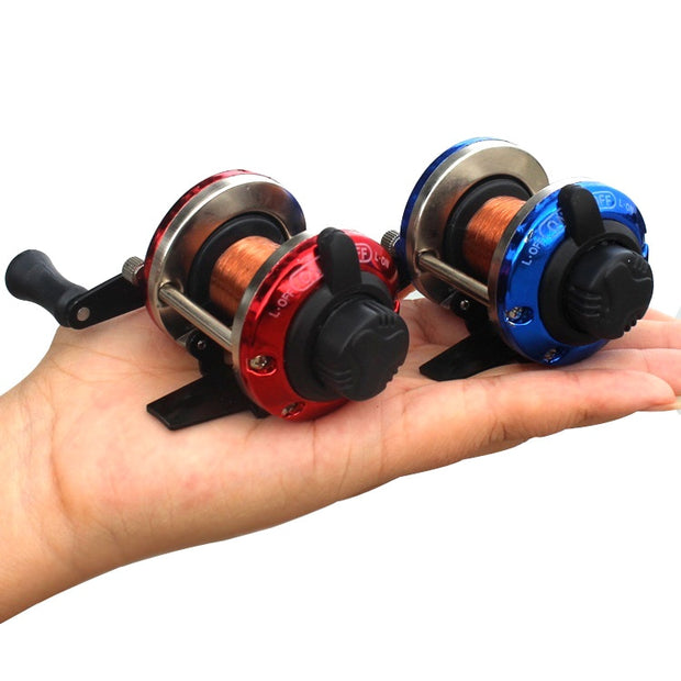 2019 Wholesale Durable Metal Bait Casting Spinning Boat Ice Reel Fish Water Wheel Roller Coil Carretilha De Pesca Fishing Parts