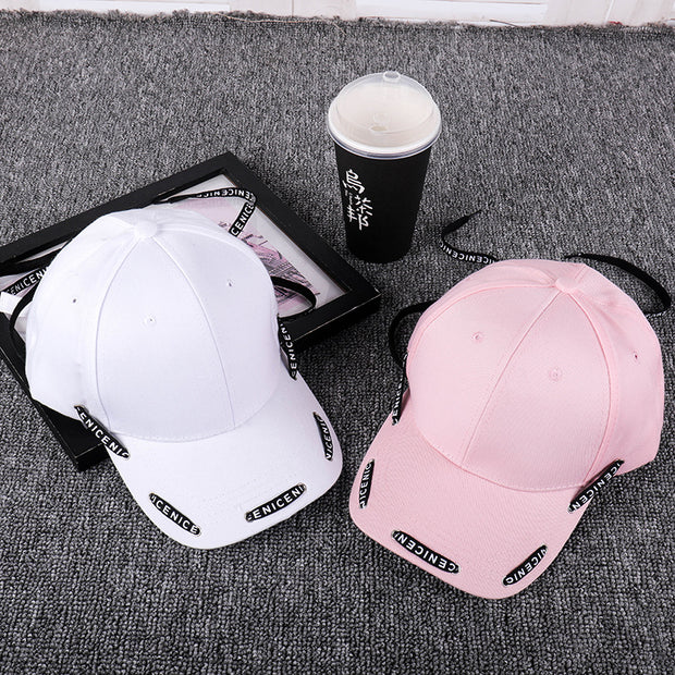2019 New Korean Hat Men Women Cap Light Board Lace Personality Casual Baseball Cap Outdoor Sunscreen Cap Baseball Cap Streetwear