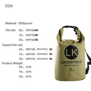 20L Outdoor PVC IPX6 Waterproof Dry Bag Durable Lightweight Diving Floating Camping Hiking Backpack Swimming Bags