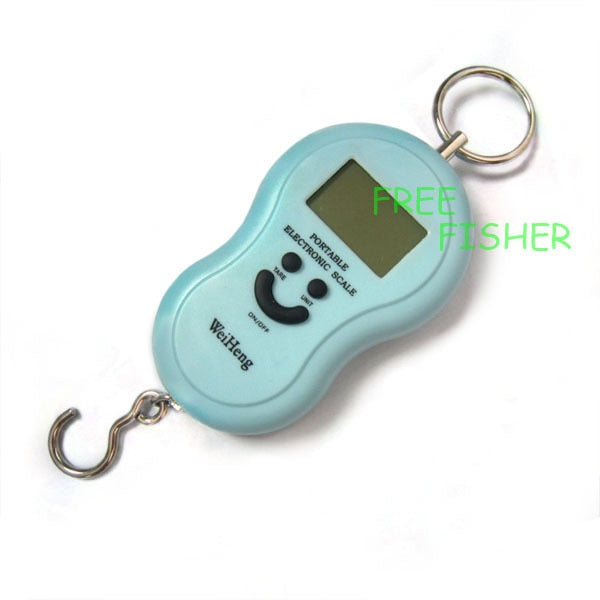 20g/40kg Digital Hanging Fishing Balance Scale Blue Free Fisher