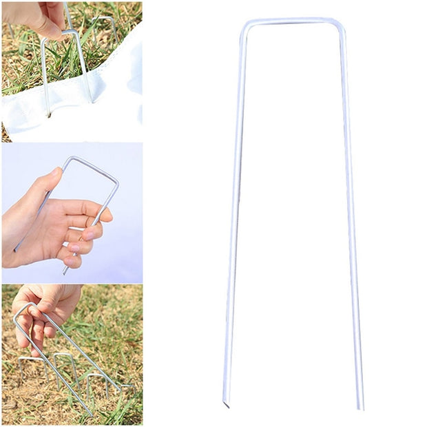 20pcs Outdoor Camping Nail Pegs For Tent Aluminum Alloy ABS Hiking Screw Tent Stake For Snow Grassland More Choice