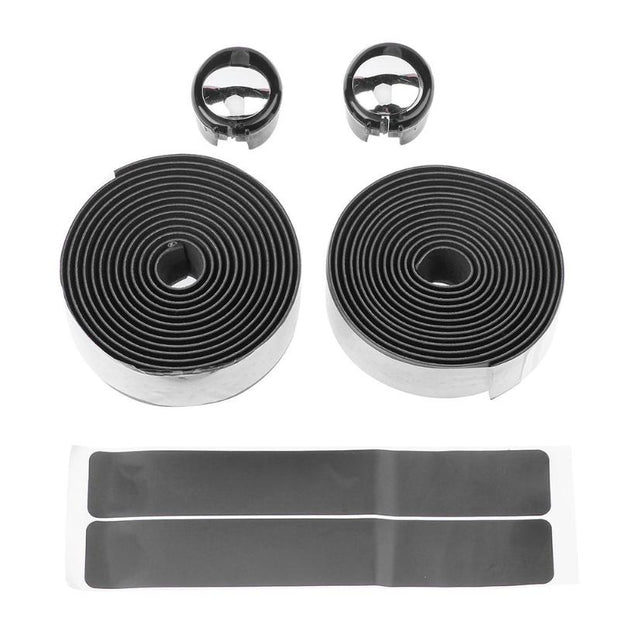 2pcs Bicycle Handlebar Tape Belt Strap+2pcs Bar Plug Carbon Bike Accessory