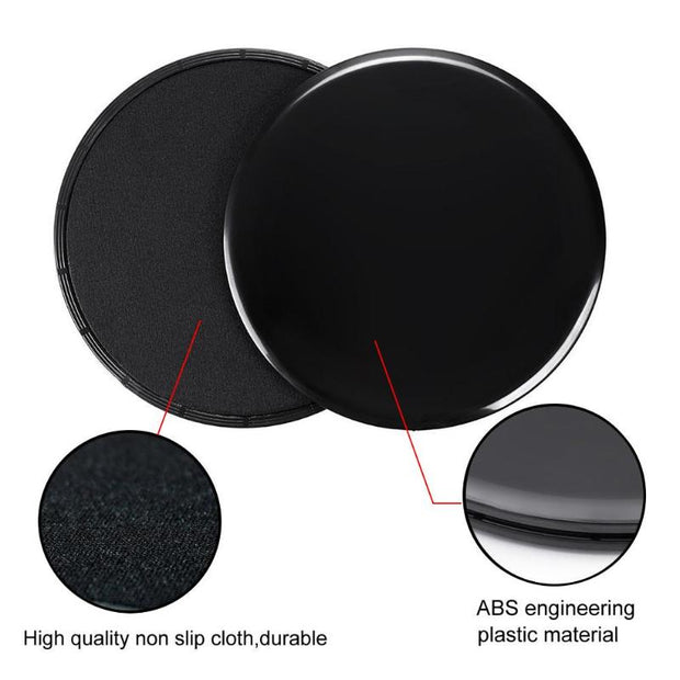 2pcs Gliding Discs Slider Fitness Disc Exercise Sliding Plate For Yoga Gym