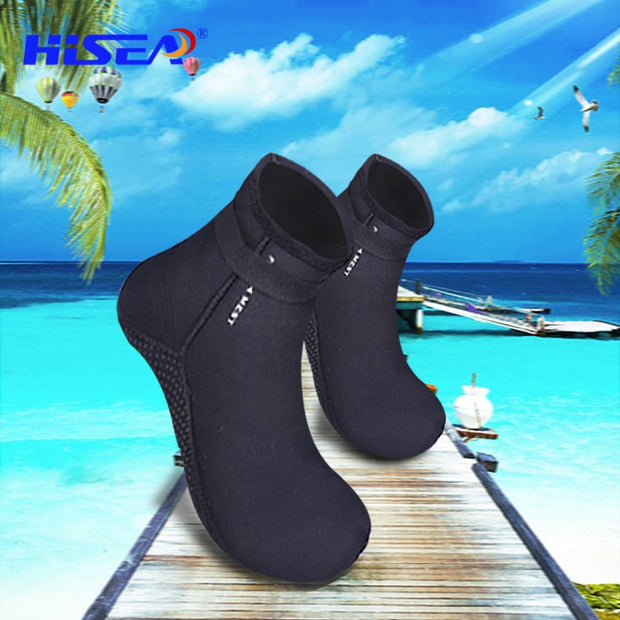 3.5MM Neoprene Socks Wetsuit Boots Kids/Adult Anti-Slip Black Scuba Diving Wet Shoes Swimming Beach Water Gear DBO