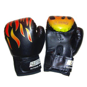 3 Colors Professional Children Flame Mesh Boxing Sports Training Breathable PU Leather Flame Gloves