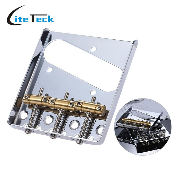 3 Copper Saddle Ashtray Guitar Bridge Tailpiece Chrome Plated For Electric Guitar Replacement Part With Screws Wrench