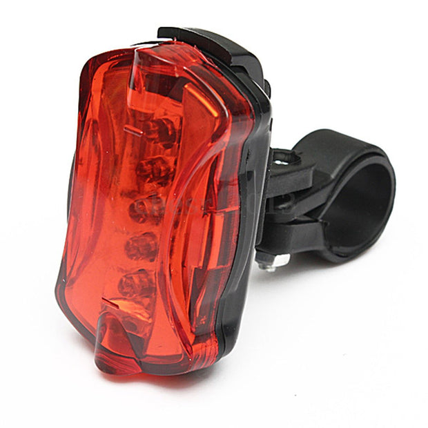 3 Pcs Of (Waterproof Bicycle Cycling 5 LED 7 Mode Night Blinking Rear Lamp)