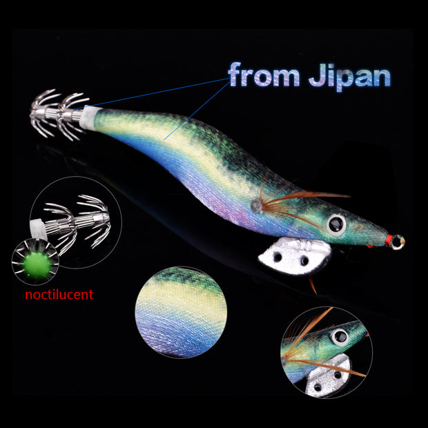 3pcs/lot 2.5g 10.5cm New Fishing Squid Jigs Lures Japan Fishing Artificial Swim Bait Tackle Lure Hooks Shrimp Trout Lure