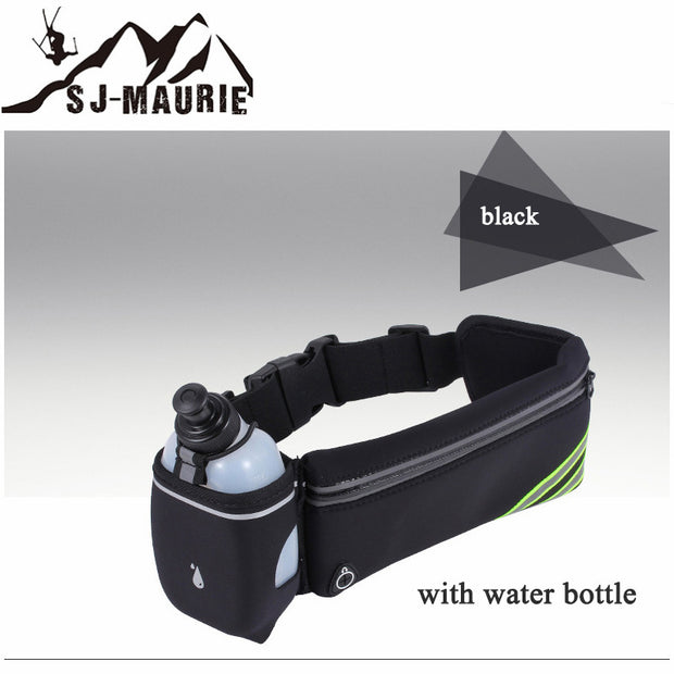 4 Colors Running Bags Outdoor Sports Bottle Holder With Pack Marathon Reflective Adjustable Waist Belt Bags For Cycling Running