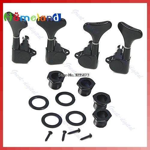 4 String BassBlack Guitar Sealed Tuners Tuning Pegs Machine Heads 2R2L Jun30_30