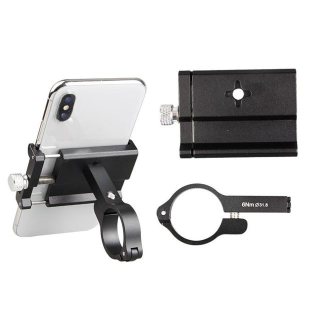4 Color Universal Aluminum Alloy Rotatable Bike Motorcycle Mount Bracket Handlebar Phone Holder Support For Smartphones
