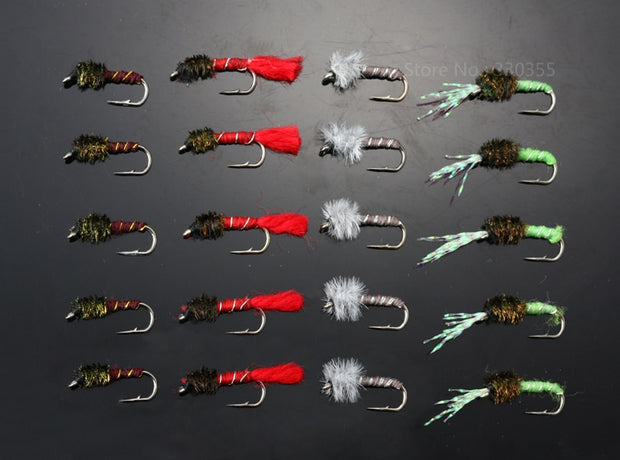 40Pcs Buzzer Fly Size 10 Nymphs Flies Salmon Trout Fly Fishing Lures