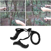48cm Multifunction Pocket Chain Saw Hand Saw Chain Outdoor Emergency Survival Tool Camping & Hiking Supplies Black