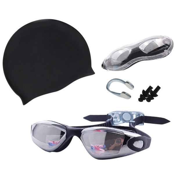 4PCs New Professional Anti-Fog Protection Adjustable Swimming Goggles Men Women Waterproof Silicone Glasses Adult Eyewear#J4