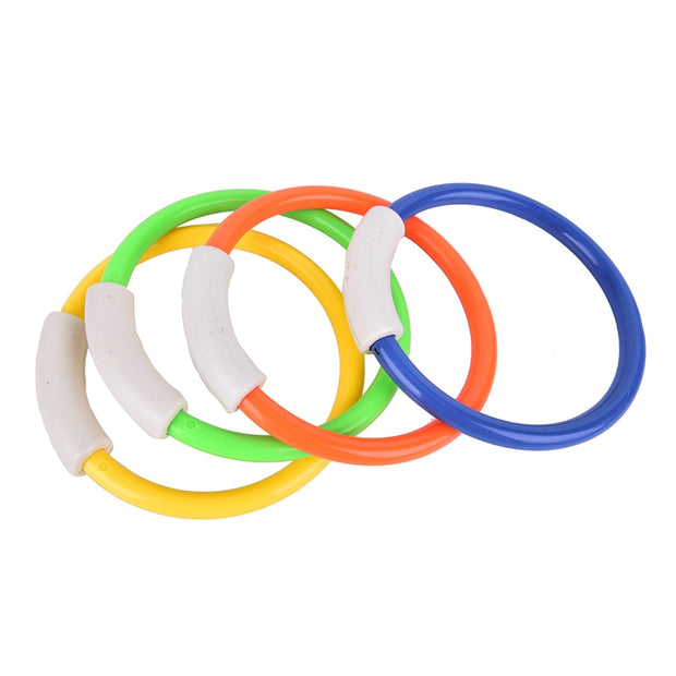 4Pcs Summer Kid Underwater Diving Ring Dive Rings Swimming Pool Diving Game Sport Diving Buoys Four Loaded Throwing Toys