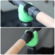 4pcs Luminous Green Silicone Fishing Rod Holders Telescopic Fishing Rod Support Stand Head Carp Fishing Accessories