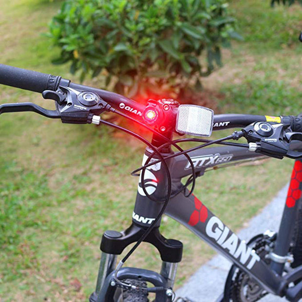 4pcs/lot Bike Bicycle Front Light LED Rear Back Tail Helmet Flash Light Safety Warning Lamp Taillight For Mountain Road Bike