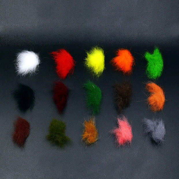5 Colors/set Fly Tying Rabbit Dubbing KANINCHEN Hare's Dub Soft Rabbit Hair Fiber Mix Guard Hairs Buggy Nymph Fly Tying Material