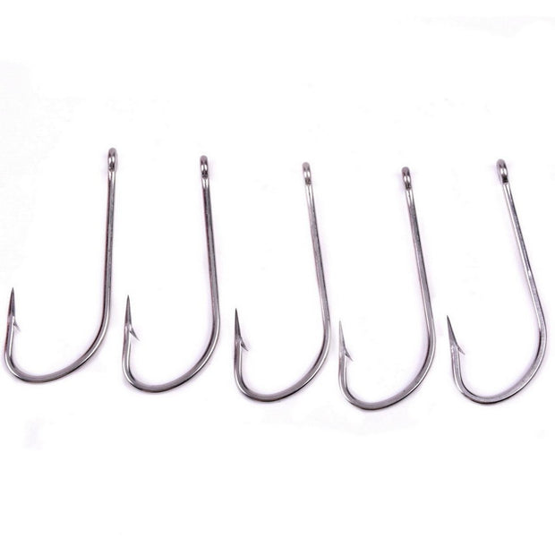 50Pcs/Lot High Carbon Steel Fishing Hook 1/0# 2/0# 10/0# Carp Fishing Hooks Durable Pesca Barbed Hook Fishing Tackle