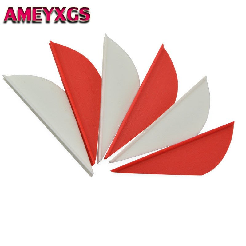 """50PCS 2/"""" Archery Arrow Feather Rubber Vanes Fletching Fletches Bow DIY Hunting"""