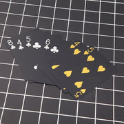 55pcs Black PVC Poker Waterproof Gold Silver Foil Luxury Magic Playing Card Game 'zt