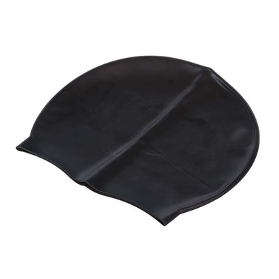 5Set Sale Black Durable Stylish Sporty Latex Swimming Cap Hat
