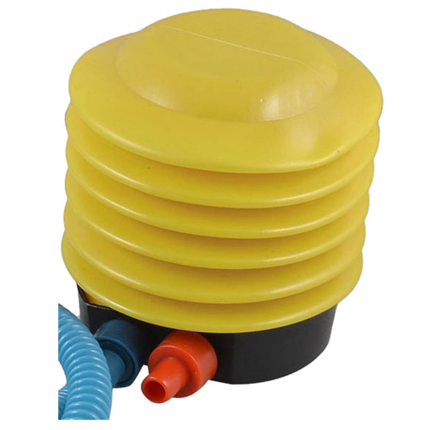 5pack X (Bicycle Balloons Yellow Blue Plastic Housing Foot Operated Air Pump Inflator