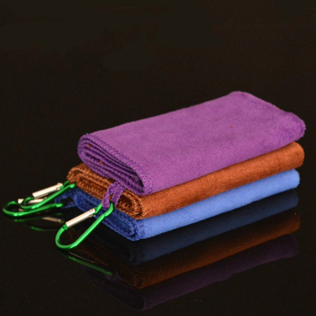 5pcs Fishing Hand Towel Outdoors Sports Wipe Hands Towel With Hanging Buckle 29cm*29cm