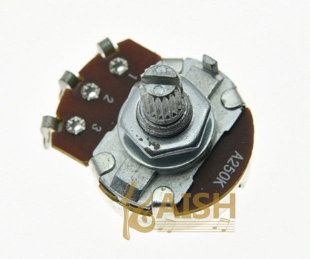 5x A250K Large Audio Guitar Pots 15mm Short Split Shaft 250K Potentiometers