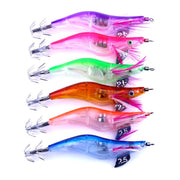 6pc LED Hooks Fishing Electronic Light Prawns Curls Squid Jigs Bait Bass Lure Fish Equipment Tackles Anzol Para Jig