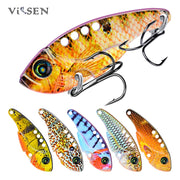 6pcs Cicada Spinner Crankbaits 54mm/11g Bait Bass Artificial Metal Spoon Ice Jig Wobbler Winter Fishing Tackle